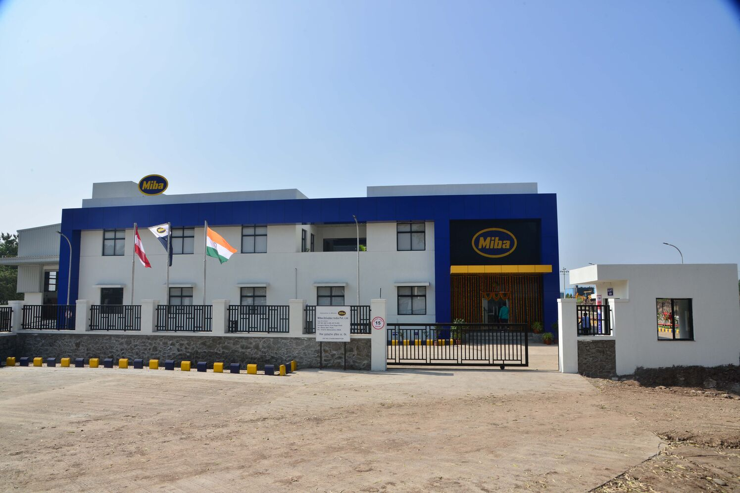 Front View of the Miba Drivetec India Location
