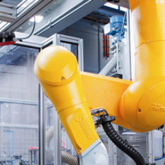 Image shows industrial robot