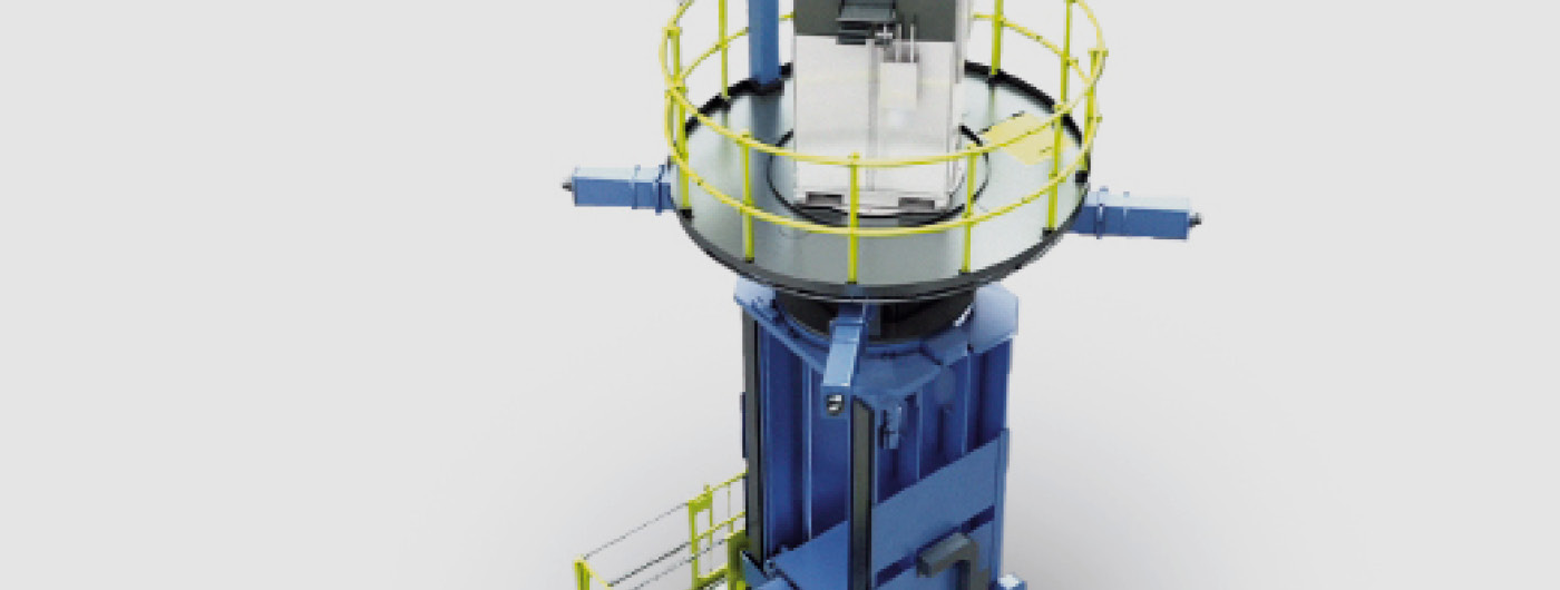 Image shows Mobile machining equipment for the construction of hydroelectric power plants