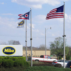 Front view of the Miba Coatings US LLC Location
