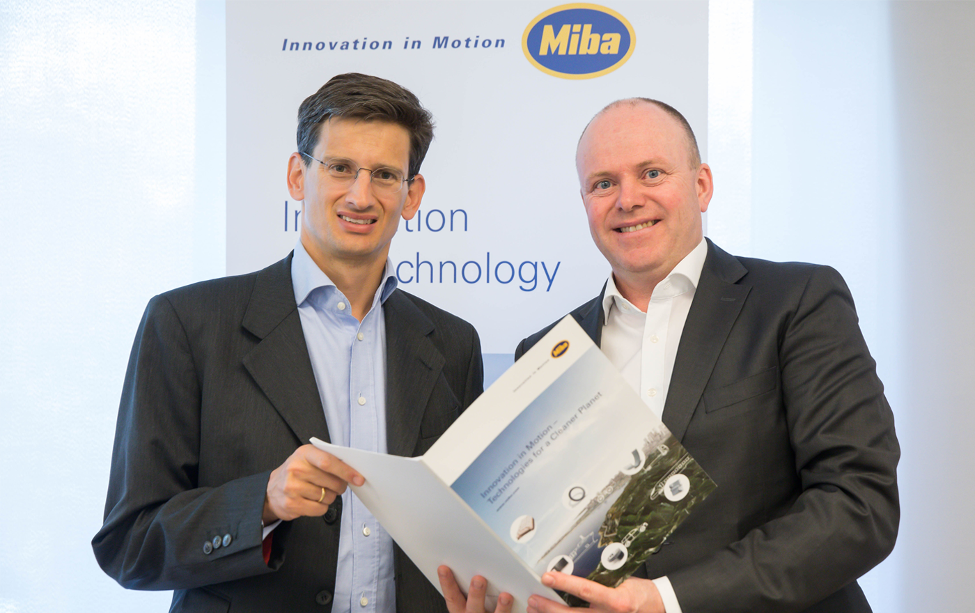 F. Peter Mitterbauer and Markus Hofer at the press conference